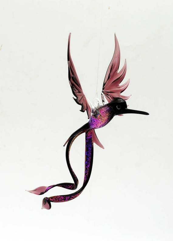 e36-701 Purple Double-Tail Hummingbird with Dichroic