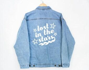 Stars Denim Jacket - Denim Coat - Jean Jacket - Vintage Jacket - Denim Jacket - Denim Coat - Levi's Jacket - Outerwear - Women's Jacket