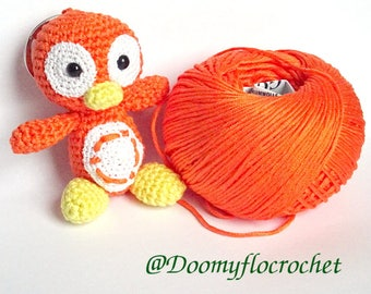 Ubuntu Linux penguin amigurumi Keychain crochetmade