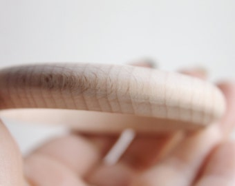 12 mm Wooden bracelet unfinished round - natural eco friendly A12