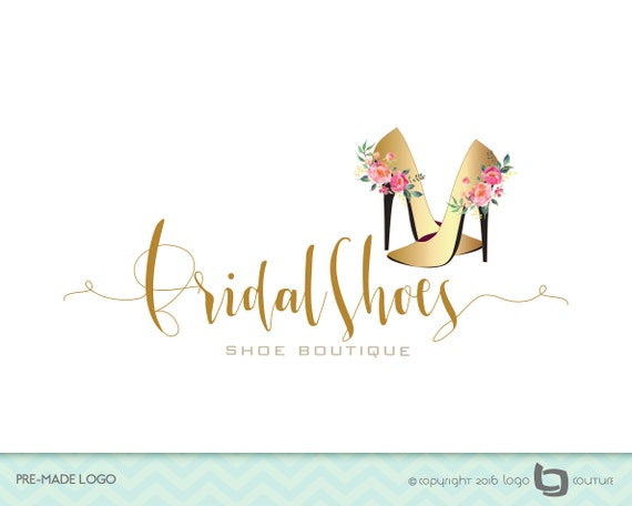 PreMade Wedding Shoe Boutique Logo Shoes