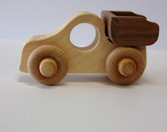 Natural Wood Toy Truck