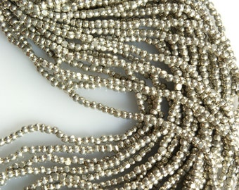 Sterling Silver Size 11/0 True Cut Seed Beads Full Hank Czech Charlotte Beads 12 - 20 Inch Strands
