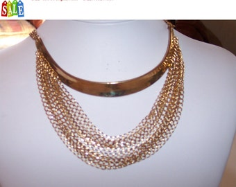 SALE - 60% Off Original Price.   Vintage Designer Collar NECKLACE by Tasha JEWELRY