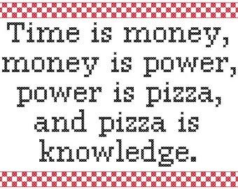 PDF PATTERN Time is money funny cross stitch