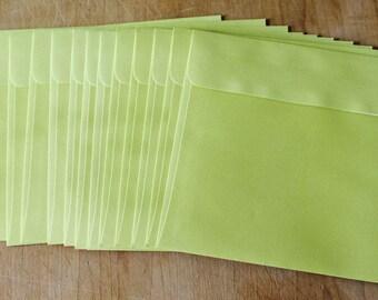 12 Pastel Lime Green 6 x 6 inch Envelopes