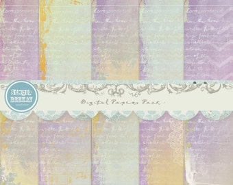 ON SALE Digital Scrapbooking Papers pack, 12x 12 in 300 dpi vol.39 - INSTANT Download
