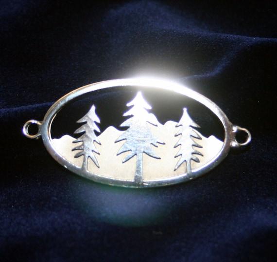 Stainless Steel Triptic Tree Bracelet Charm