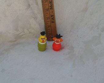 Vintage 1970s Sesame Street House Figure:  Bert & Ernie!