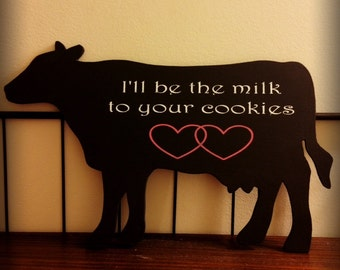 COW Sign | Farmhouse Decor | Valentines Day
