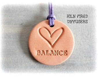 Balance Spiritual Jewelry Yoga Pendant Necklace Aromatherapy Therapeutic Grade Pure Essential Oil Diffuser Terracotta Natural Anxiety Relief