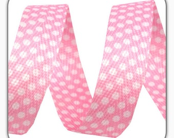 Belt, body tape 18 mm, with white dots in pink