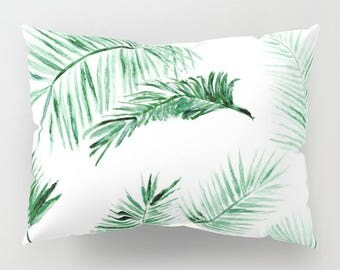 Palm Leaf Pillow Shams, Set of 2, palm leaf pillow sham, palm leaf pillow case, leaf pillow cases, leaf pillow case, leaf pillow cover