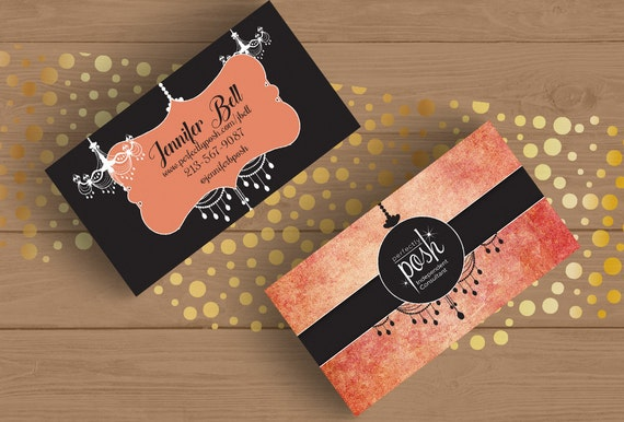 perfectly posh peach and gray business card template by fudemori. Black Bedroom Furniture Sets. Home Design Ideas