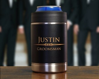 Personalized Can Coolers, Gifts for Groomsmen, Set of 9