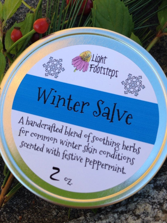 Winter Salve with Natural, Organic Ingredients to Refresh and Soothe Winter Skin - Great holiday gift!