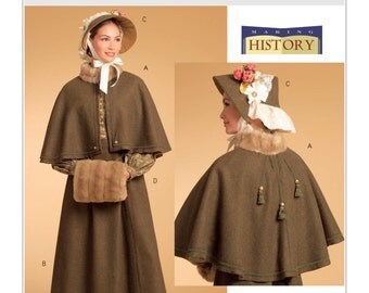 Butterick B5265 Misses' Cape, Skirt, Bonnet and Fur Muff Historical Costume Sewing Pattern