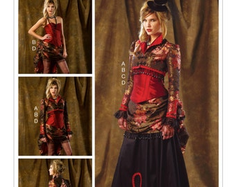 McCall's M6911 Bolero, Corset, Skirt and Pick-up Overskirt Historical Style Costume Sewing Pattern
