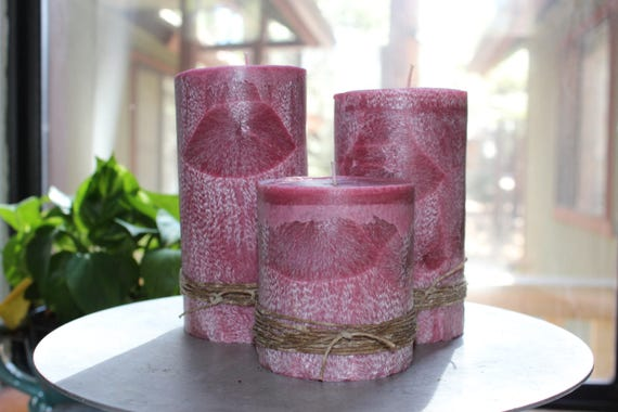 100% Palm Wax Pillar Candle Cinnamon Coconut Fragrance--Choose Size and Charm-- Sustainably Farmed