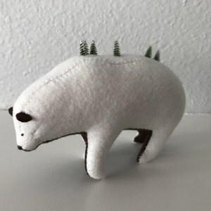 winter wonderland bear soft sculpture bear white bear. Black Bedroom Furniture Sets. Home Design Ideas