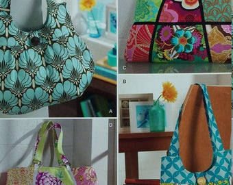 UNCUT and FF Pattern Pieces Vintage Simplicity 0483 Sewing Pattern Tote Bags Sweet Pea Totes One Size