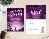 Palm beach wedding invita...