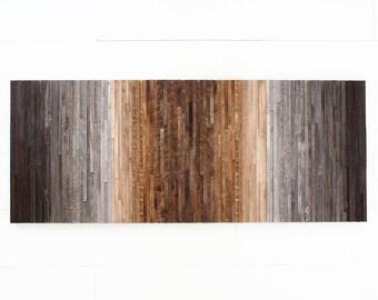 "Reclaimed wood wall art, Gradient artwork, 60""x24"" Large wall art, modern artwork"