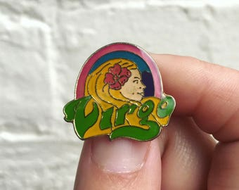 Vintage Enamel Lapel or Hat Pin - Virgo Horoscope Pin