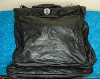 Leather Garment Bag Etsy