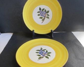 Stangl Blueberry Dinner Plates Set of 2