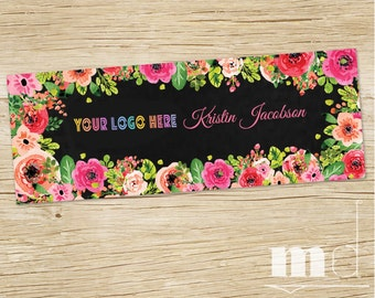 Custom Facebook Cover Photo, Fb Shop Sales Banner Marketing Kit, LuLa Consultant Cover Photo, Best Black Floral Design, DIGITAL FILE For Web