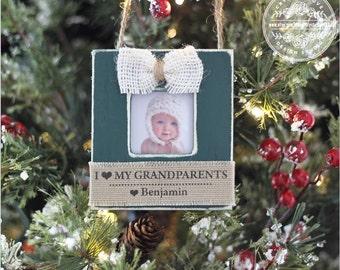 Personalized Christmas Ornament for Grandparents Grandma Grandpa Grandchild GIFT Holiday Ornament