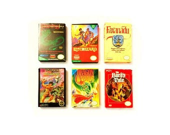 Vintage NES Role Playing Video Games Complete in Original Boxes - Nintendo RPG