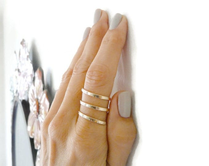 Gold Filled Ring//Triple Coil Ring//Women Rings//Handmade Jewelry//Jewelry For Her//Gifts For Her Under 30
