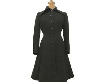 1940s B ALTMAN Geometric Pattern New Look Princess Coat