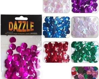 Dazzle Cupped Sequins 12mm - 120pcs
