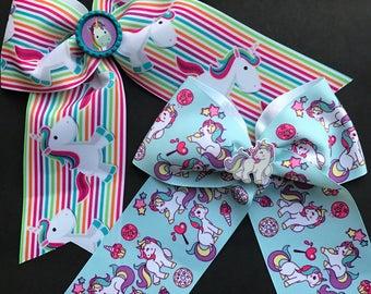 Unicorn Cheer Bows