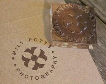 Custom Logo Stamp ( 1.5 x 1.5 inches )  - Custom Logo Stamp
