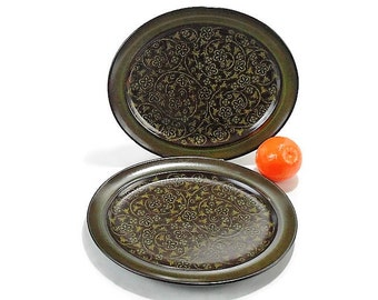 Vintage 1970s Franciscan Madeira Serving Platters * Set of 2