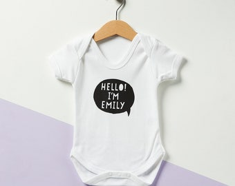 Personalised Speech Bubble Babygrow