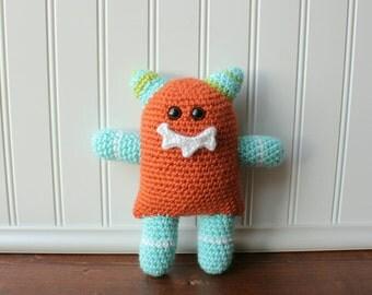 Monster Plush, Crochet Monster Plush, Halloween Monster Toy, Baby Shower Gift, Crochet Kids Toy, Amigurumi Monster, Monster Toy, Kids Gift