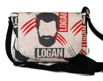 X-Men Gift - Logan Fabric - Messenger Bag - Crossbody Bag -  Pop culture bags - Comic Con Accessories - Girlfriend gift