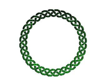 Celtic Monogram Frame Embroidery Design