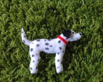 Hanging dalmation dog decoration