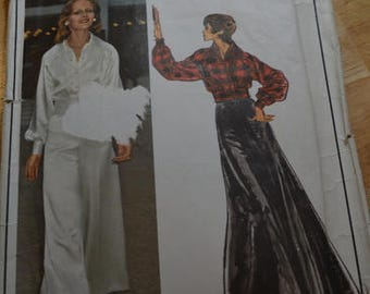Vintage Vogue 2795, Christian Dior pattern, size 12.  Misses' Evening Jacket, Pants and Skirt.