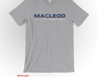 MacLeod Clan Tartan and Motto T-Shirt Silver Shirt Scottish Clan Apparel