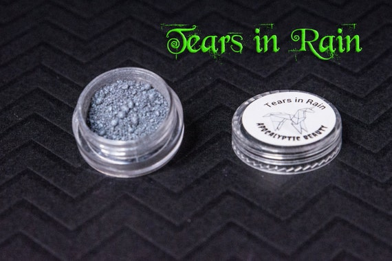 Tears in Rain - vegan blue-grey duochrome eyeshadow