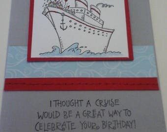 Cruise Ship Humerous Birthday card