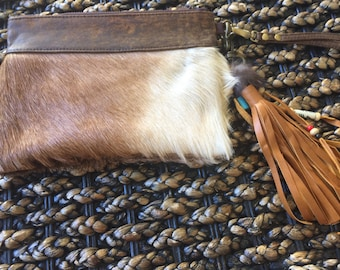 Goat hide leather purse
