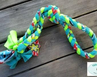 Double Handle Fleece Tug Dog Toy